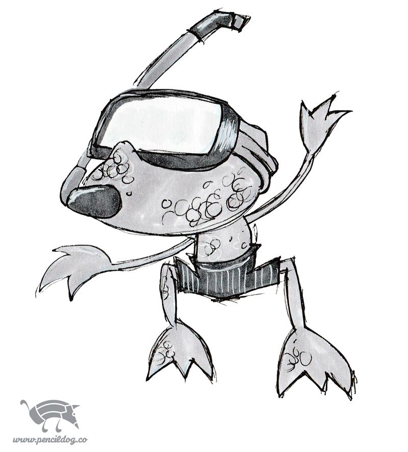 rana-snorkel